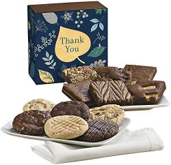 Fairytale Brownies Thank You Cookie & Brownie Combo Gourmet Food Gift Basket Chocolate Box & ...