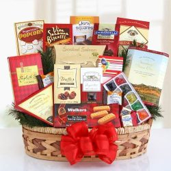 Top Shelf Gourmet Foods Premium Gift Basket | Christmas Gift Idea by Organic Stores
