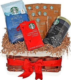Christmas Starbucks Coffee Winter Blend & Hot Cocoa Variety Gift Basket with the most popula ...