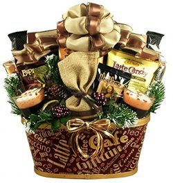 Caffeine Addicts Coffee, Cappuccino and Tea Gift Basket
