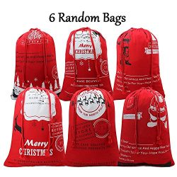 Bonison Holiday Theme Tote Bag, Handle Bag, Sack, Basket for Christmas, Halloween, Easter. Cotto ...
