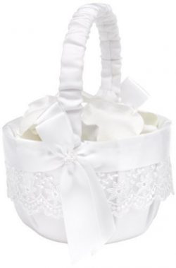 Hortense B. Hewitt Lace Allure Wedding Accessories, Flower Basket