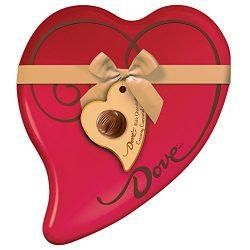 DOVE Valentine's Caramel Chocolate Candy Heart Gift Box 8.13-Ounce 24-Piece Tin