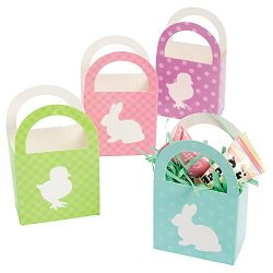 Two Dozen Mini Easter Baskets/Party Supplies/Gift Boxes/Party Favors