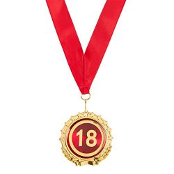 Gold Medal – 18th Anniversary Gift – 18th Birthday Gift – Award Medals – ...