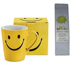 Smiley Face Mug with Hello Sunshine Dreamcicle Coffee Gift Set 2 Piece Bundle