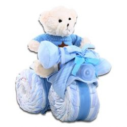 Alder Creek Tricycle Diaper Cake-Boy In Blue. It's the Perfect Alternative to A Gift Baske ...