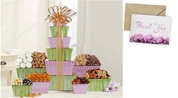 Tower Of Sweets Gift Basket for Thank You and personalized card mailed seperately, CD3280102