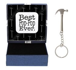 Father's Day Gift From Child Best Pop-Pop Ever Gift for Pop-Pop Grandpa Hammer Keychain &a ...