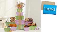 Tower Of Sweets Gift Basket for Thank You and personalized card mailed seperately, CD3279919