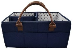 Premium Baby Diaper Caddy Tote Bag by Gentle Tot – Nursery Supplies & Changing Wipe St ...