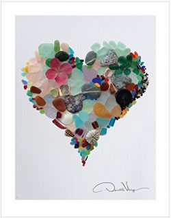 LOVE. Sea Glass Heart Poster Print From The Heart Collection, 11×14 Inches, Unique Gift For ...