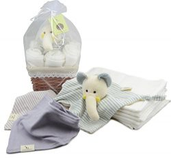 Dordor & Gorgor Organic Cotton Baby gift baskets (Elephant)