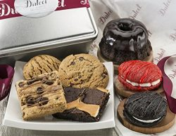 Dulcet Gourmet Food Gift Baskets: Includes:Chocolate Bundt, Chocolate and, Red Velvet Whoopie Pi ...