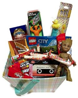 EASTER VALENTINES DAY GIFT BASKET SET FOR BIG BOYS GIRLS ~ GUARDIANS OF GALAXY DANCING BABY GROO ...