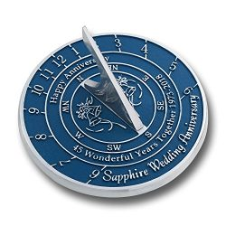 Looking For The Best 45th Sapphire Wedding Anniversary Gift? This Unique Sundial Gift Idea Is A  ...