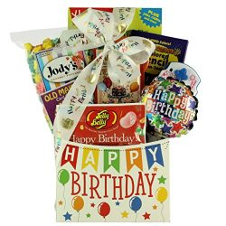 GreatArrivals Kid's Birthday Gift Basket, Happy Birthday Wishes, 3 Pound