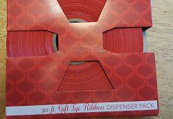 Gift Holiday Red Ribbon Satin Finish Tye Ribbon 300 Feet Dispenser Pack 3/4 Wide 100 Yards Gift  ...
