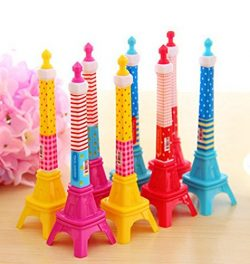 KitMax (TM) Pack of 12 Pcs Cute Cool Novelty France Paris Eiffel Tower Shape Personalized Promot ...
