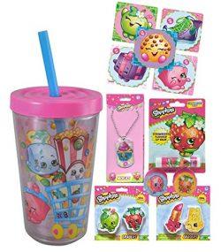 Shopkins Girl's Fun Sip Favor Cup! Valentines Day Gift, Easter Basket Filler, Stocking Stu ...