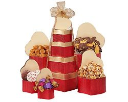 Wine Country Gift Baskets Tower of Hearts, 2.2 Pound