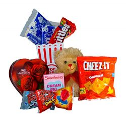 Valentines Day Movie Night Gift Set Gift Basket (Color May Vary) For Date Night, Family Night, C ...