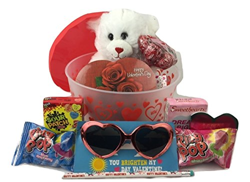 Valentineu0027s Day Care Package with Chocolates u0026 Candy and Sweetie Bear! Great Kids Vale .  sc 1 st  Candy Gift Baskets u2013 ubaskets & Valentineu0027s Day Care Package with Chocolates u0026 Candy and Sweetie ...
