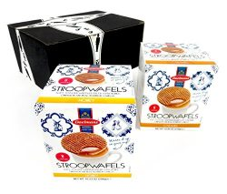 Daelmans Stroopwafels 2-Flavor Variety: One 10.94 oz Package of Caramel and One 10.23 oz Package ...