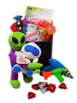 I Love You to the Moon and Back Valentine's Day Candy Toy Gift Basket