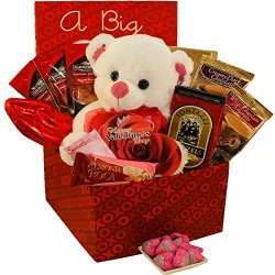 Art of Appreciation Gift Baskets A Big Kiss For You Care Package Valentine's Day Gift Box