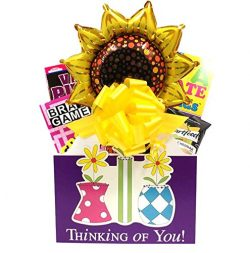 Womens Thinking of You Gift Basket A Cheerful Alternative To Flower Bouquets by Gifts Fulfilled