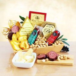 Savory California Delights Gift Box | Sausages, Cheese, Nuts and Dried Fruits