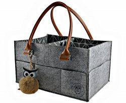 Baby Diaper Caddy Organizer by My GOGO Baby – Nursery Diaper Tote Bag | Large Portable Car ...