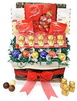 Lindt Valentine's Day Chocolate Gift Basket – Lindt Mini Bears & Snowflakes &amp ...