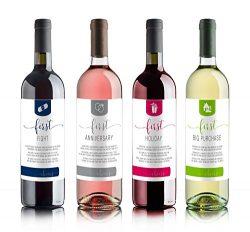 Wine Bottle Labels for bridal shower gift, wedding gift, Wedding milestones, Wedding Firsts (Sam ...