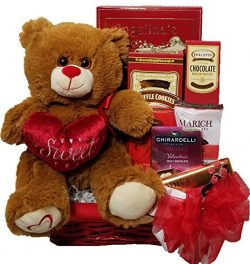 """Delight Expressions """"Sweet Temptation"""" Gourmet Food Gift Basket – A Valentine& ..."""