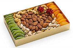 Valentines Day Gift Basket For Your Loved Ones – Dried Fruit And Nuts – Kiwi Apricot ...