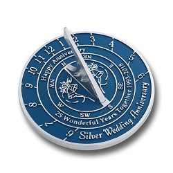 Looking For The Best 25th Silver Wedding Anniversary Gift? This Unique Sundial Gift Idea Is A Gr ...