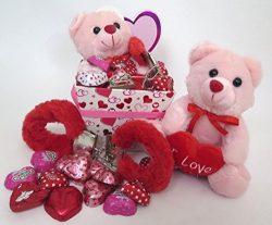 valentines chocolate heart gift basket.