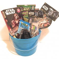 Disney Star Wars Easter Holiday Gift Basket or Birthday Basket – Puzzle, Coloring Book, Pa ...