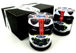 Hero Premium Blackberry Fruit Spread, 12 oz Jars in a BlackTie Box (Pack of 2)