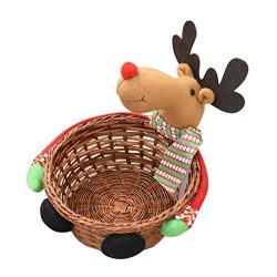 Clearance Christmas Basket! Paymenow Cute Christmas Candy Storage Basket Decoration Home Holiday ...