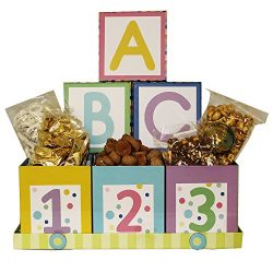 Art of Appreciation Gift Baskets ABC's and 123's Baby Gift Box Snack Set, Nuetral Bo ...