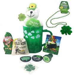 St Patricks Day Gift Set For Kids With Green Mug, St. Patty's Bear, See's Candy Choc ...