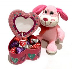 Valentines Gift Candy Tower – Valentine's Day Stuffed Animal & Candy – Stu ...