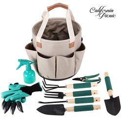 Garden Tools Set Garden Tote | 9 Piece Garden Tool Set | Digging Claw Gardening Gloves Gardening ...