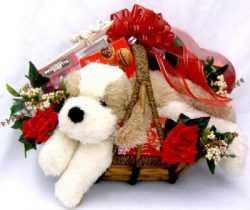 Gift Basket Village Puppy Love A Romantic Gift Basket, Medium