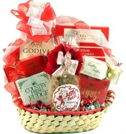 With Love Valentines Day Gift Basket for Men or Women