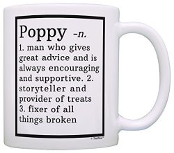 Funny Poppy Gifts Poppy Grandpa Definition Fathers Day Gifts for Poppy Gift Coffee Mug Tea Cup White