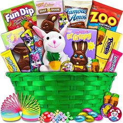 Classic Easter Gift Basket (Green) – Premade and Shrink-Wrapped, Kids, Boys, Girls – ...